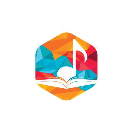 Music book vector logo design. Book and music note icon design. Logó