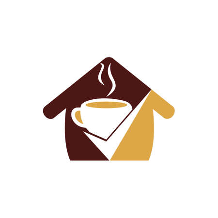 Coffee Check vector logo design. Coffee cup with a check mark.