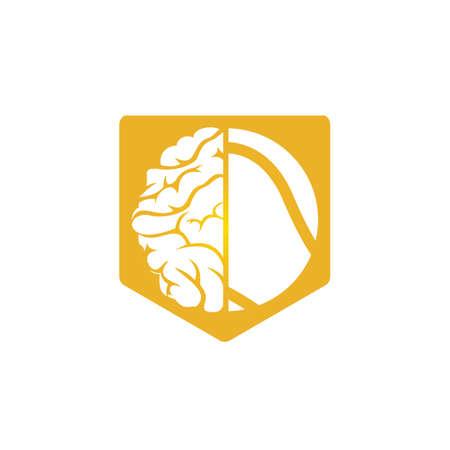 Tennis brain vector icon design. Smart tennis icon concept. Ilustração