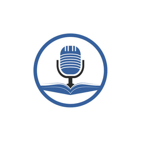 Podcast book vector icon design. Education podcast icon concept. Vektorové ilustrace