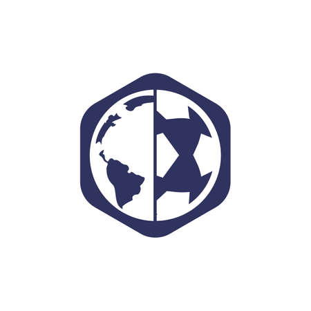 Soccer globe vector icon design template. Soccer planet icon template illustration.