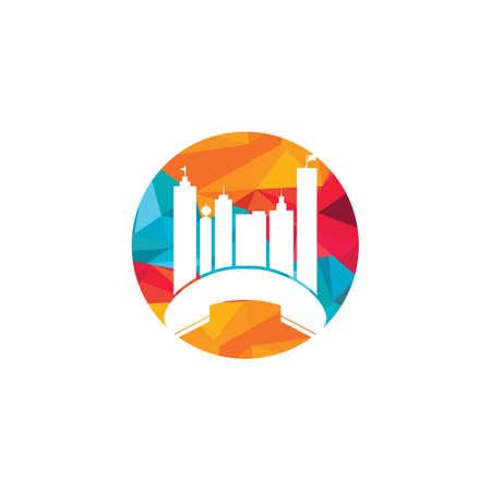 City Call vector logo design template. Phone City logo designs concept