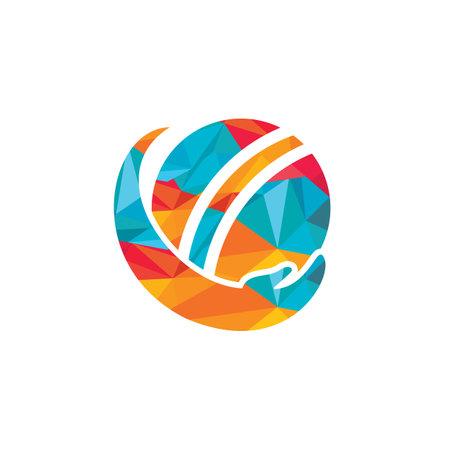 Cricket care vector logo design. Cricket insurance logo design concept.
