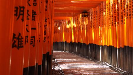 Ten thousand Japanese style gate Fushimi Inari