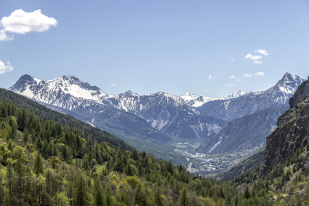 landscape of rochemolles in Valsusa valley Standard-Bild - 103609346