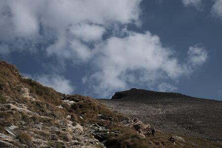 Trekking on the Rocciamelone mountain in valsusa 版權商用圖片