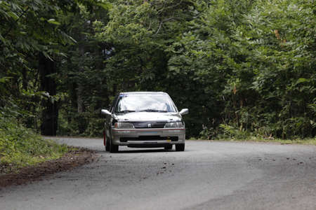 Historic rally into the forest with lancia delta and more