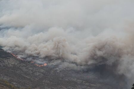 Fire on Rocciamelone mountain in valsusa, Piedmont Stock fotó