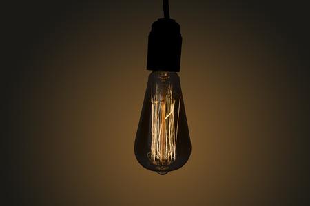 #97391256 - Vintage hanging Edison light bulb over dark background & Low Light Of Vintage Light Bulb Filament Isolated On Black ...