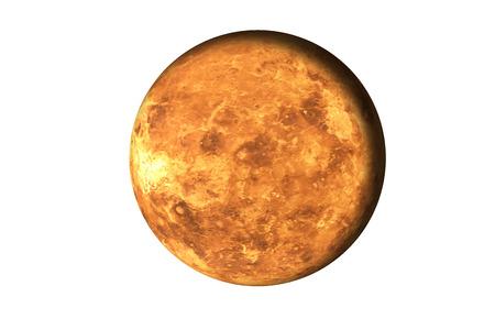 Planète de feu mort rouge du système solaire. Planète morte dans l'espace isolé sur blanc. Science fiction.