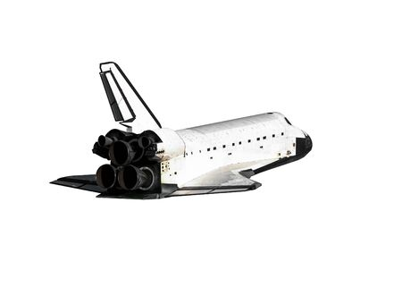 Space Shuttle isolated on white background.