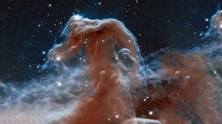 The Horsehead Nebula upper ridge illuminated by Sigma Orionis