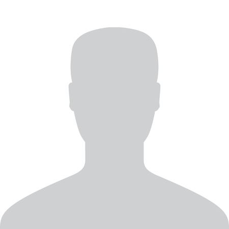 Male Default Placeholder Avatar Profile Gray Picture Isolated on White Background For Your Design. Vector illustration