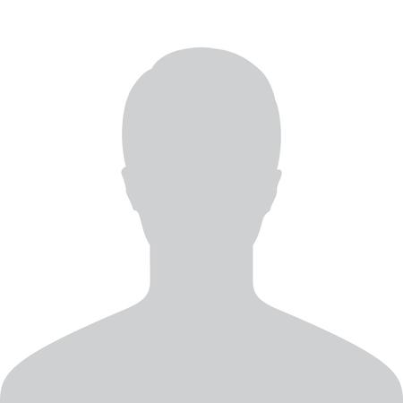 Mężczyzna Domyślny zastępczy Awatar Profil Szary obrazu samodzielnie na białym tle projekt. ilustracji wektorowych