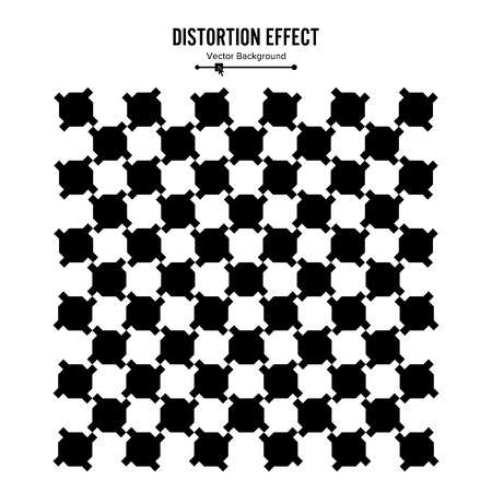 meandering: Optical Illusion. Vector 3d Art. Distortion Dynamic Effect. Geometric Magic Background.