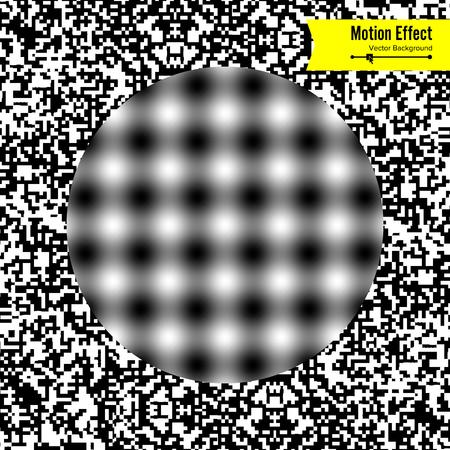 Złudzenie optyczne. Sztuka wektor 3d. Efekt dynamiczny zniekształceń. Geometryczne Magiczne Tło.