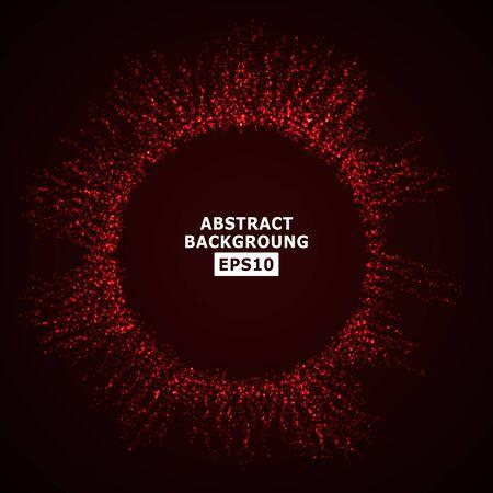 halfone: Vector Splash Of Glowing Particles. Futuristic Cyber Backdrop. Vector Illustration.