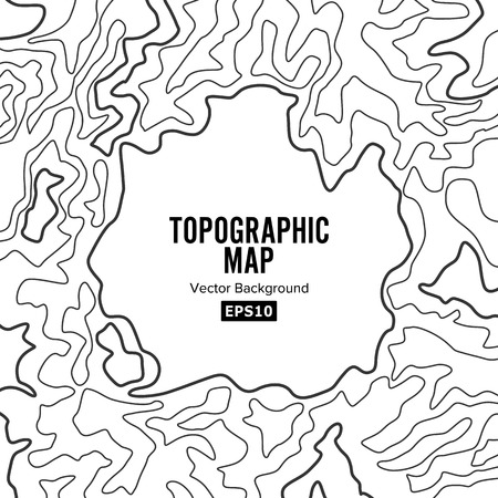 elevation: Topographic Map Background Concept. Elevation Map. Topo Contour Map Background. Isolated On White