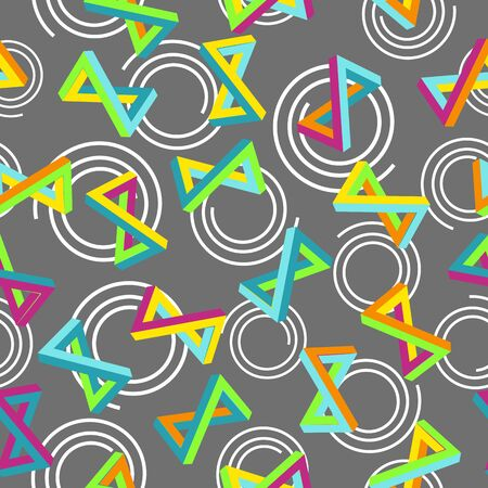 patter: Geometric 80s patter in retro Memphis style 1980s.