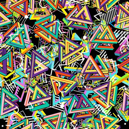 80s: Vector Pattern 80s. Seamless Background. Retro Memphis Style