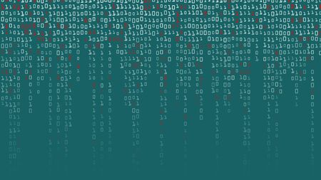 cryptogram: Binary Code Background Vector. High-Tech Matrix Background