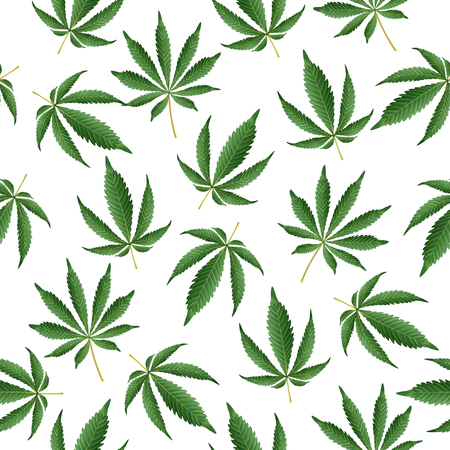 Cannabis Background. Vector Seamless Vector Pattern Hashish Narcotic.