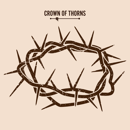 humility: Crown Of Thorns. Silhouette Of A Crown Of Thorns. Jesus Christ. Vector Illustration. Illustration