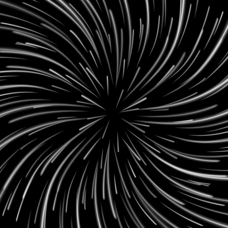 cosmology: Space Vortex Vector. Abstract Background With Star Warp, Stars Burst Or Hyperspace. Illustration