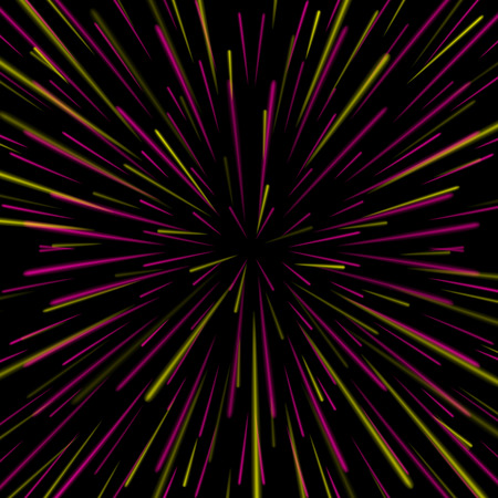 Space Vortex Vector. Abstract Background With Star Warp, Stars Burst Or Hyperspace. Illustration