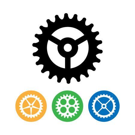 Vector Clock Gears. Flat Vector Clock Gears. Clock Mechanism Icons Isolated On White Background.