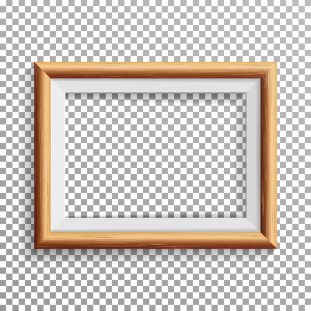 Realistic Photo Frame Vector With Soft Shadow. Isolated On Transparent Background.