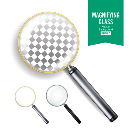 len: Realistic magnifying glass vector. Illustration