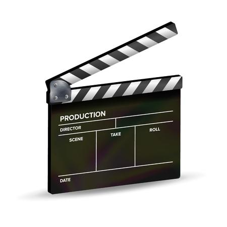 Clapper Board Vector. Template Clapboard. Movie Equipment.