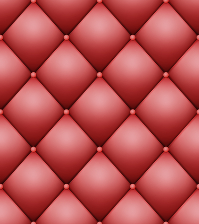 Quilted Pattern Vector. Vintage Buttoned Leather Stylish Upholstery