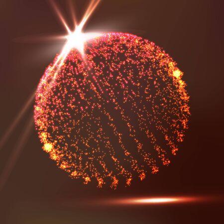 futuristic: Molecular Bond Broken Lights Triangle Plexus Elements Science Technology Concept. Illustration
