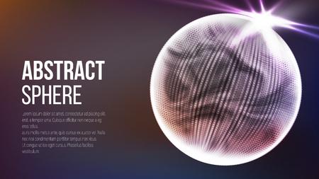 抽象的な球形。抽象的な多角形空間の背景。抽象的な技術の背景。3 d の地球の概念。ベクトル  イラスト・ベクター素材