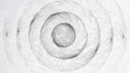 デジタル生成イメージ。ビッグデータ複雑なベクター。点と線を接続します。サイエンスの背景。