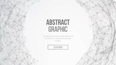 Digitaal Gegenereerde Afbeelding. Big Data Complex Vector. Dots en lijnen aansluiten. Wetenschap Achtergrond. Stock Illustratie