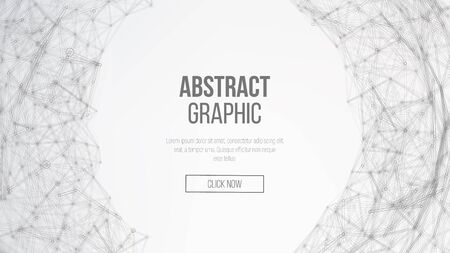 summaries: Digitally Generated Image. Big Data Complex Vector. Connecting Dots And Lines. Science Background. Illustration