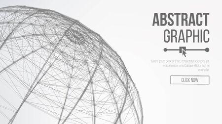 Futuristische Earth Globe. Abstract technologie futuristisch netwerk. Big Data Complex Vector. Digitaal gegenereerde afbeelding. Vector Wireframe bol illustratie.