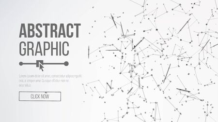 Digitally Generated Image. Big Data Complex Vector. Connecting Dots And Lines. Science Background. Vector Elegant Background For Business Presentation.