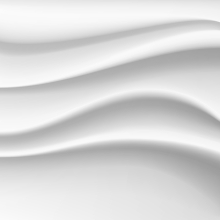 Wavy Silk Abstract Background Vector. White Satin Silky Cloth Fabric Textile Drape With Crease Wavy Folds.