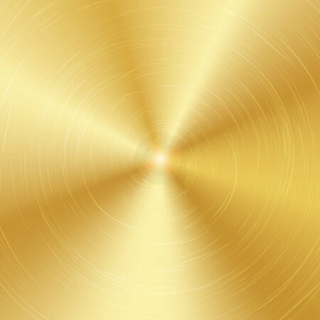alloy: Gold Or Bronze Metal Abstract Technology Background. Polished, Brushed Texture. Vector illustration.