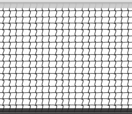 Tennis Net Horizontal Seamless Pattern Background. Vector Illustration Stock Illustratie