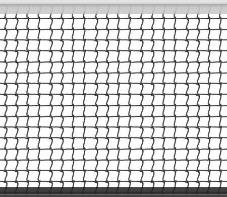 Tennis Net Horizontal Seamless Pattern Background. Vector Illustration Vectores