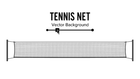 Tennis Net. Realistic Net Used In The Sport Game Of Tennis. Isolated On White. Vector Illustration