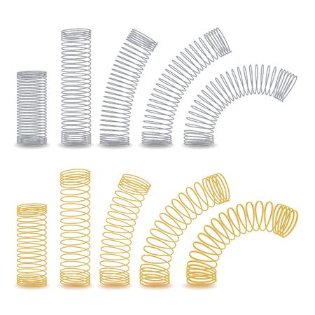 Alambre flexible espiral. Muelles De Compresión, Tensión Y Torsión. Conjunto