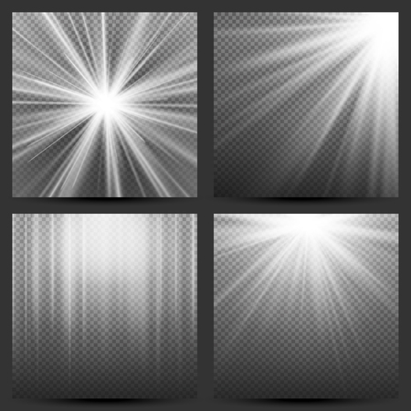 Light Beam Rays Vector. Light Effect Vector. Rays Burst Light.Isolated On Transparent Background. Vector 矢量图像