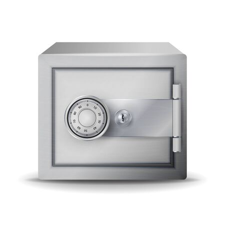 Metal Safe Realistic Vector