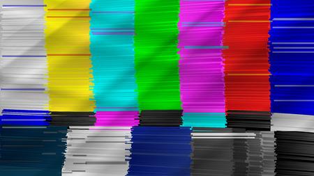 Distorted Glitch TV. Digilal No signal. Glitch Art Show Static Error. Vector Abstract Background Vettoriali